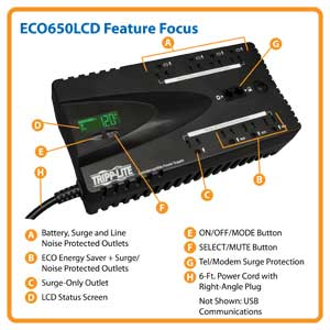 ECO650LCD Feature Focus