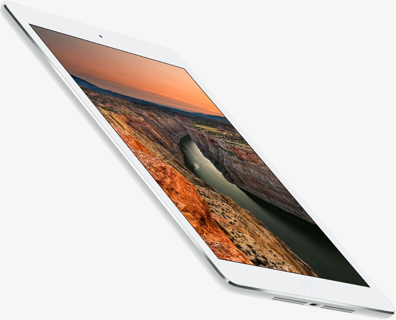 Left bottom view of the iPad Air