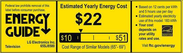 lg 65sj8500. view energy guide details lg 65sj8500