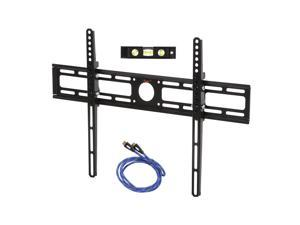 "Rosewill RHTB-14003 - 32"" - 70"" LCD LED TV Lockable Tilt Wall Mount with 6-Foot HDMI Cable Bubble Level VESA 600 x 400 mm, Black"