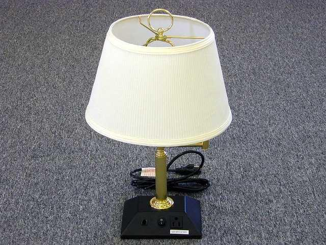 grandrich data port table lamp with built in telephone. Black Bedroom Furniture Sets. Home Design Ideas