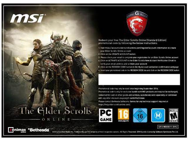 MSI The Elder Scrolls Online Digital Download Code