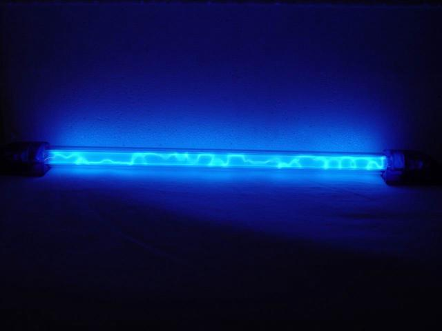 "LOGISYS Computer LNSBL 12"" Blue Liquid Neon Thunder Pattern LED Light"