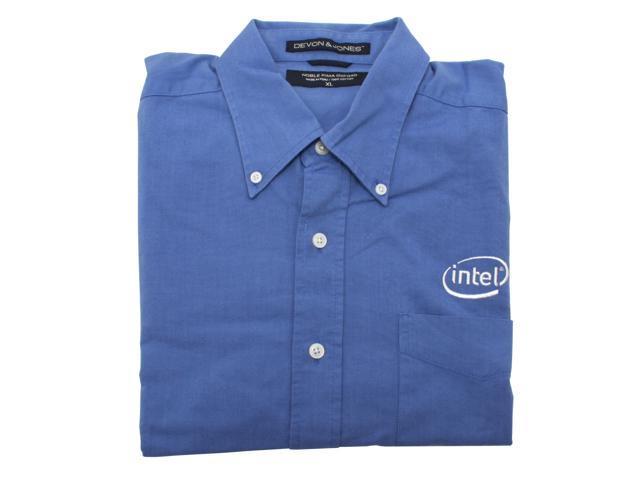 Intel 100% Cotton-Blue Shirt W ----LG - OEM