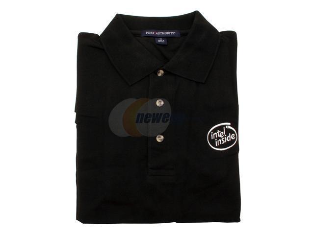 Intel Shirt: Black Polo--large
