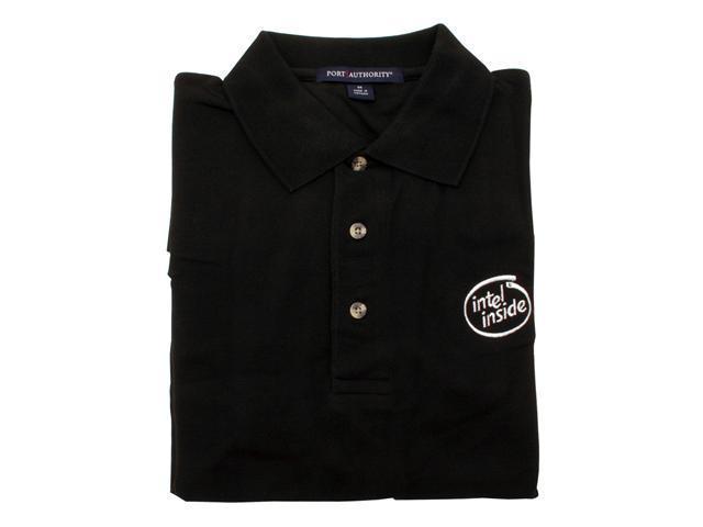 Intel Shirt: Black Polo--XL - OEM