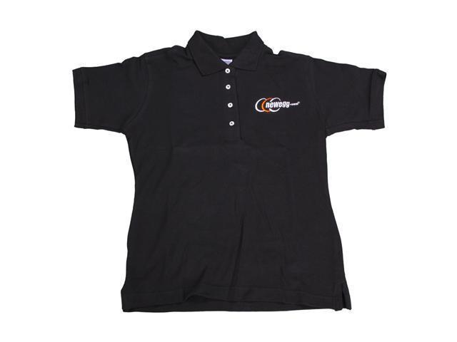 Newegg Women's Black Polo Shirt Size Medium