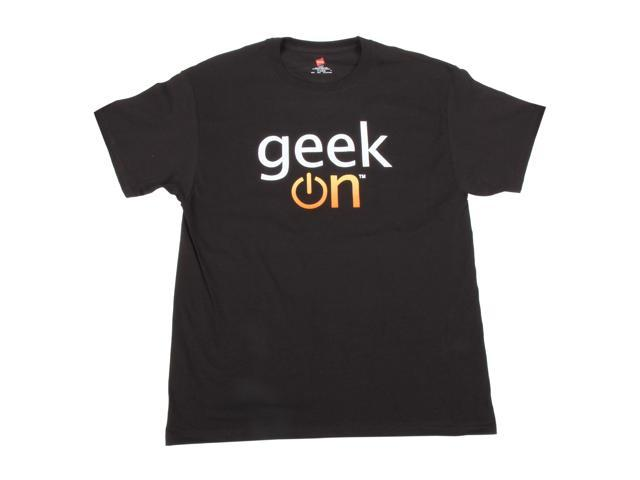 Limited Edition Geek On Black T-Shirts Large