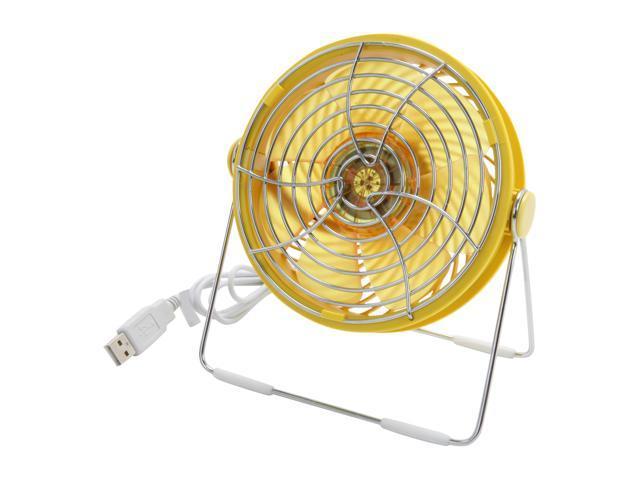 Silverstone AP121Y-USB Air Penetractor USB Powered Desktop Fan, Yellow