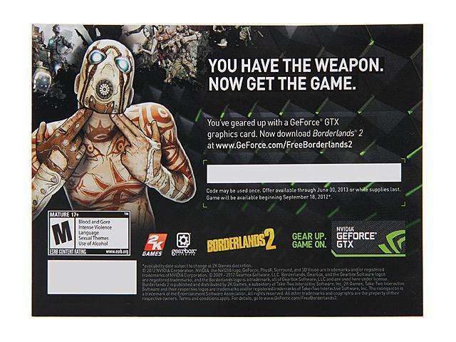 Nvidia borderlands 2 game coupon