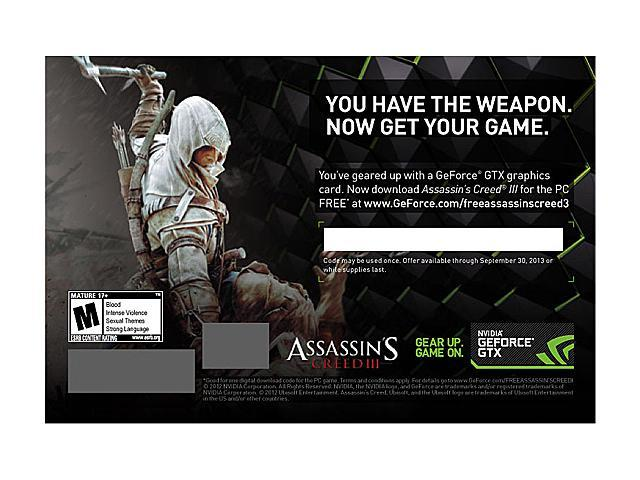 NVIDIA Gift PC Game Assassin's Creed 3