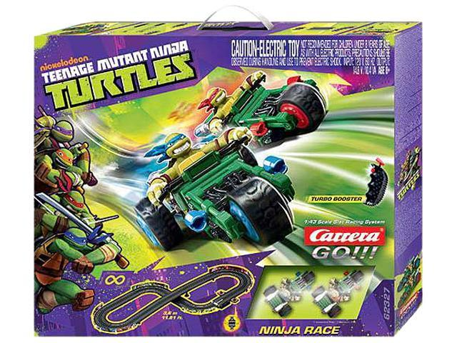 Teenage Mutant Ninja Turtles 1:43 Scale Slot Car Race Track Set