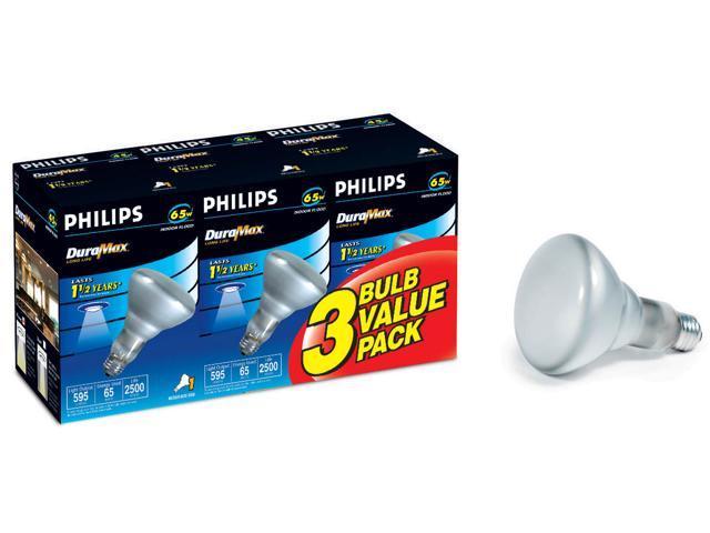 Phillips 167718 3 Pack 65 Watt Dura Max® Long Life Indoor Flood Light Bulb