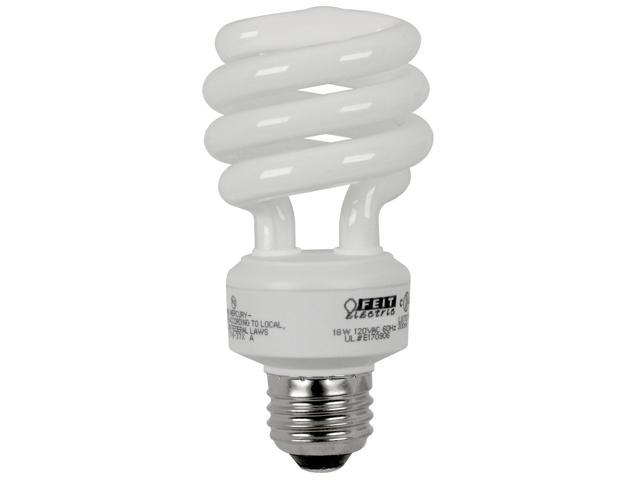 Feit Electric ESL18TM/D/4 4 Count 18 Watt Daylight Mini Twist Light Bulbs