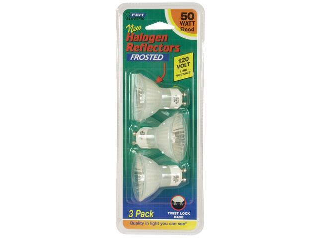 Feit Electric BPQ50MR16/GU10/ 3 Pack 50 Watt MR16 Clear Halogen Reflector Bulb