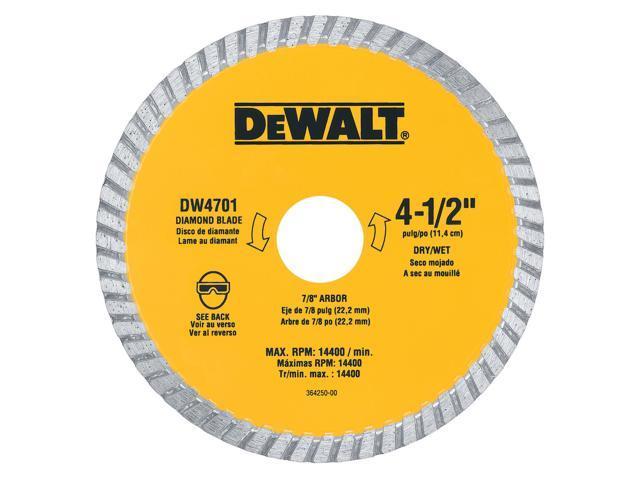 """Dewalt DW4701 4.5"""" Dry Cut Diamond Masonry Circular Saw Blades"""