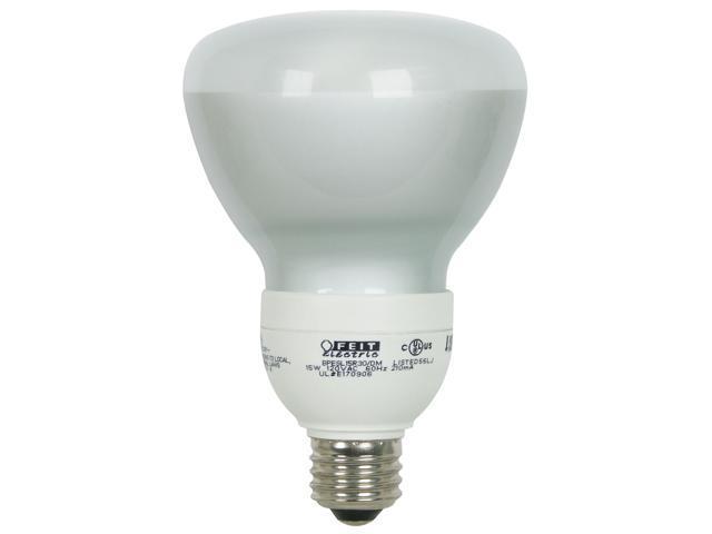 Feit Electric BPESL15R30/DM 15 Watt Compact Fluorescent Light Indoor Dimmable BR30 Reflector 65 Watt Replacement