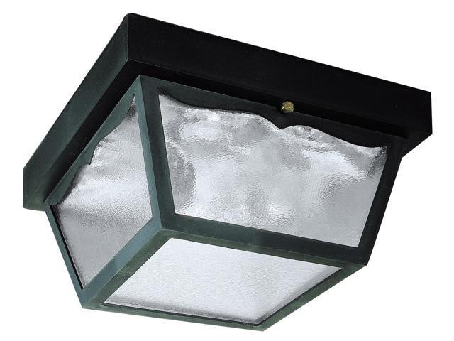 Westinghouse Black 2 Light Black Exterior Hi-Impact Polypropylene Porch Light