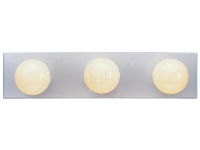 Westinghouse White 3 Light White Bathroom Vanity Light Bar