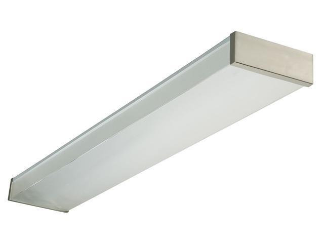 Lithonia Lighting Urban Brushed Nickel 4' 32 Watt 2 Bulb Wraparound Fluorescent Light
