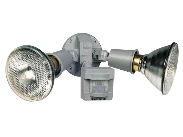 Heathco Grey 2 Bulb 120 Watt Grey DualBrite Energy Saving 2-Level Motion Flood Light