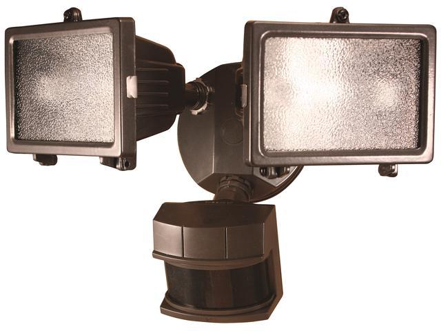 Heathco Bronze 300 Watt Bronze Quartz Halogen Motion Sensing Twin Security Light