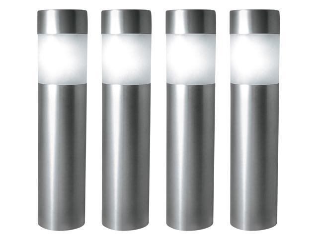 Northern International StainlessSteel 4 Count Solar Bollard Lights