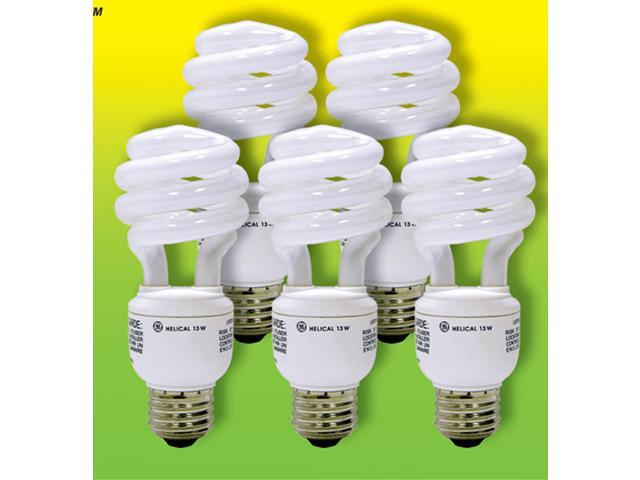 GE Lighting 85939 5 Pack 13 Watt Energy Smart™ Compact Fluorescent Spiral Light