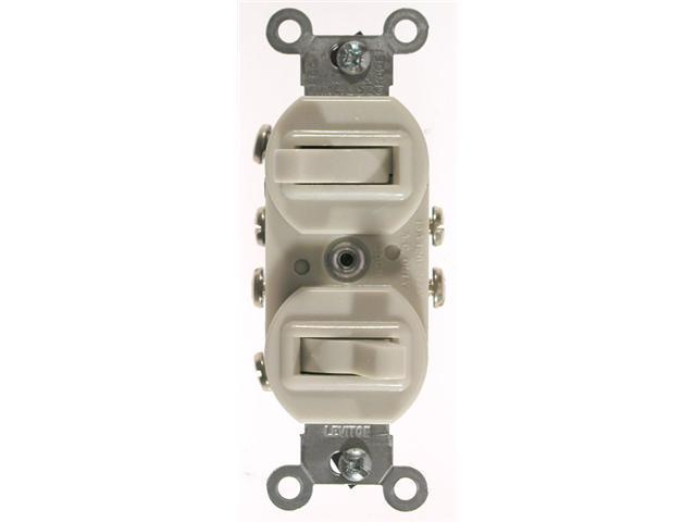 Leviton Ivory Commercial Grade 3-Way AC Combination Switch Toggle