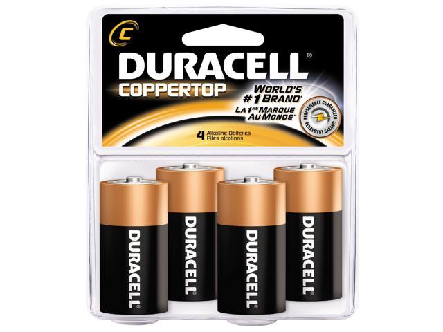 DURACELL   PROCTOR AND GAMBLE 4 Count C Cell Duracell® Coppertop Alkaline Batteries