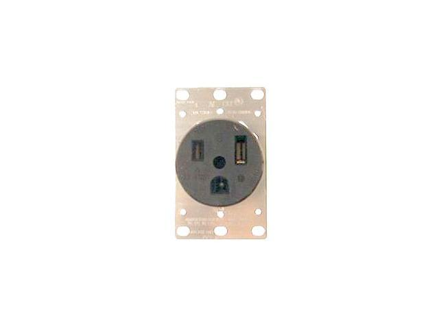 Leviton 061-5374 Industrial Grade Straight Blade Flush Mount Receptacle