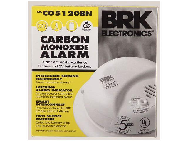 First Alert CO5120BN AC Powered Carbon Monoxide Alarm