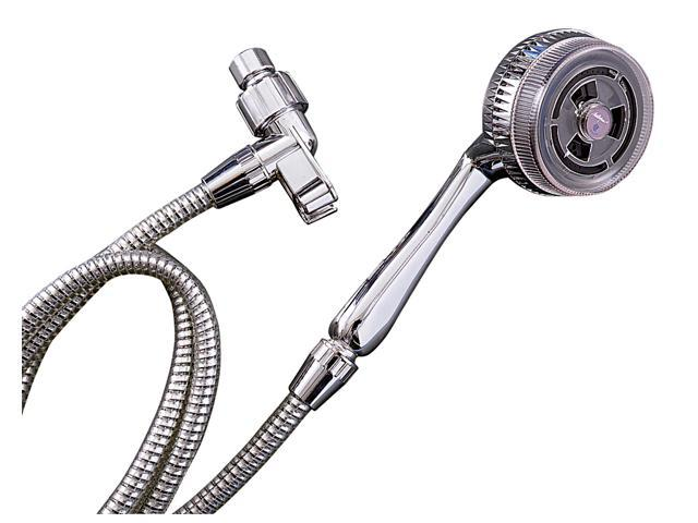 Plumb Craft Waxman 7635010B Chrome 3 Spray Setting Handheld Shower Massager