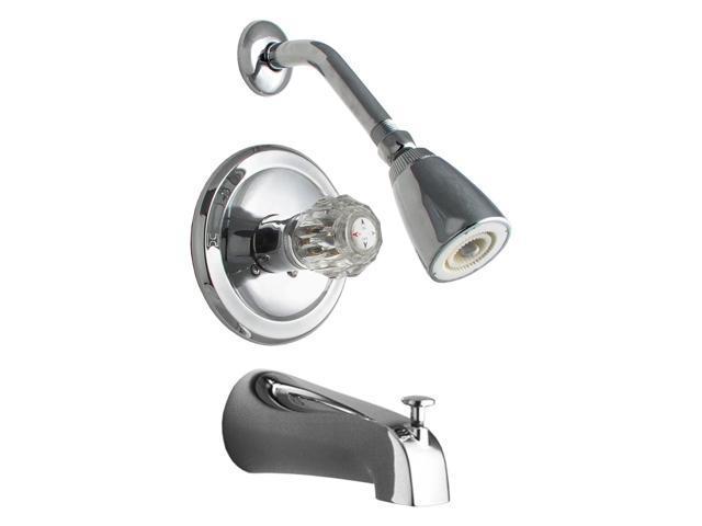 LDR 011-7100 Chrome Tub & Shower Single Handle Faucets