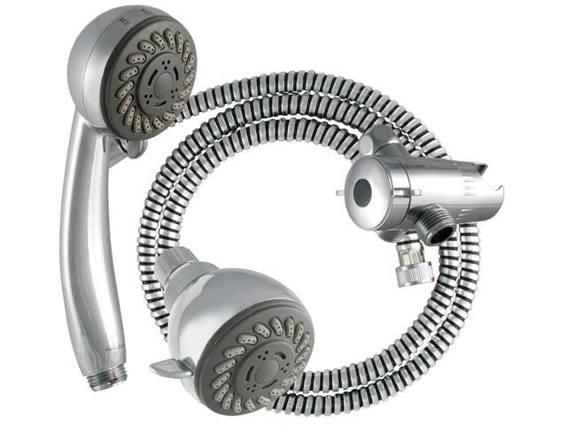 LDR 520-3020CP Chrome 3 Function Dual Head Shower Kit