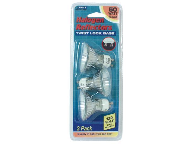 Feit Electric BPQ50MR16/IF/GU 3 Count 50 Watt MR16 Reflector Frost Halogen bulb
