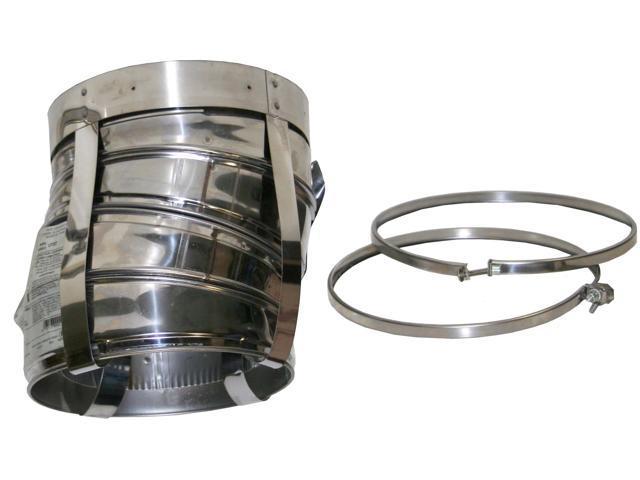 """Selkirk Metalbestos 8T-EL15KIT 8"""" Stainless Steel Insulated 15º Elbow Kit"""