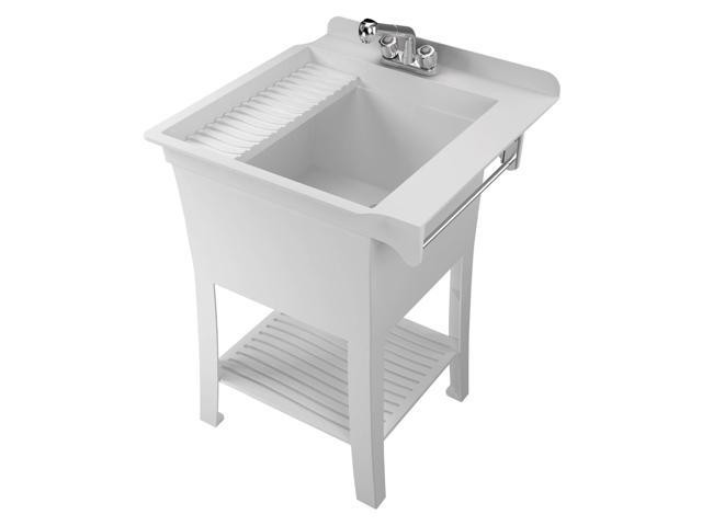 American Shower & Bath 103090 White Haven All-In-1 Utility Tub