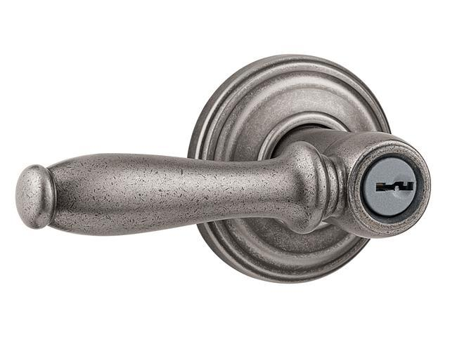 Kwikset Signature Series 97402-531 Rustic Pewter Ashfield™ Smartkey™ Entry Lever