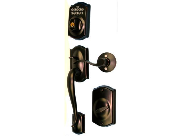 Schlage FE365VCAM716ACC Aged Bronze Keypad Deadbolt Grip Handleset