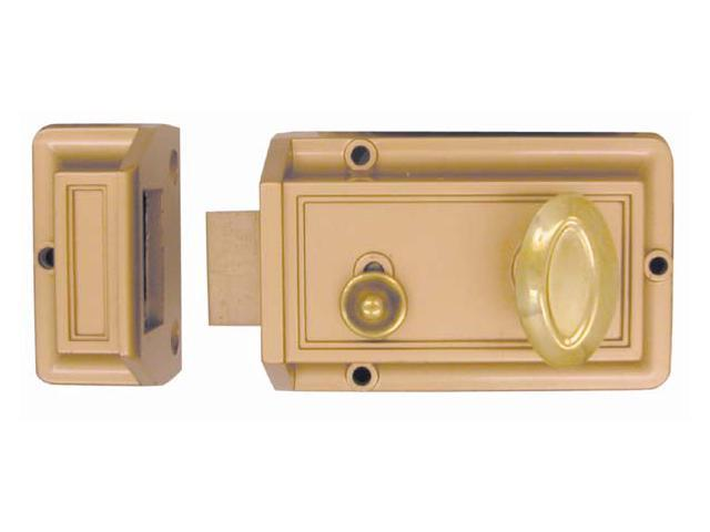 Ultra Hardware 43300 Rim Cylinder Night Latch
