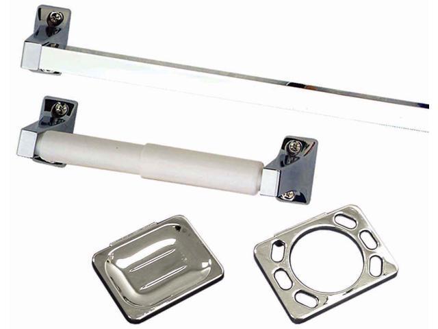 LDR 1611680 4 Piece Chrome Entree Series Bathroom Set