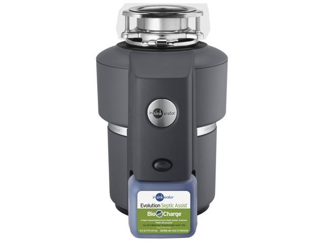 Insinkerator 74032 Evolution Series Septic Assist 120 volt Black Enamel Gray Food Waste Disposer