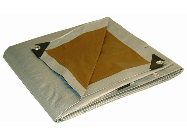 Foremost Tarp 21015 10' X 15' Silver & Brown Tarp