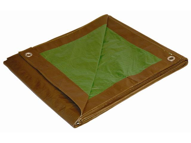 Foremost Tarp 11624 16' X 24' Brown & Green Tarp