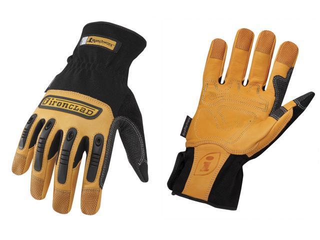 Ironclad RWG-03-M Medium RanchWorx® Genuine Bullwhip® Leather Gloves