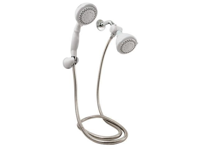 Plumb Craft Waxman 8689700 Hand Held Shower Handd & Fixed Shower Head Combo