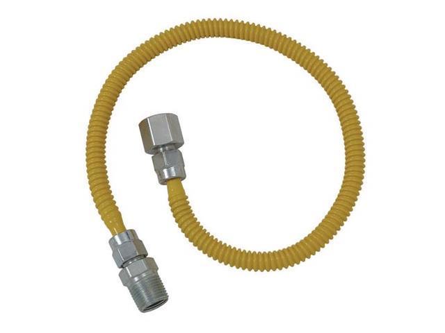 "Cobra Plumbing CSSL54-24P 24"" Stainless Steel Gas Dryer Connector"