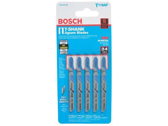 "Bosch Power Tools T118AF T-Shank Bi-Metal Jig Saw 3-5/8"" Blades"