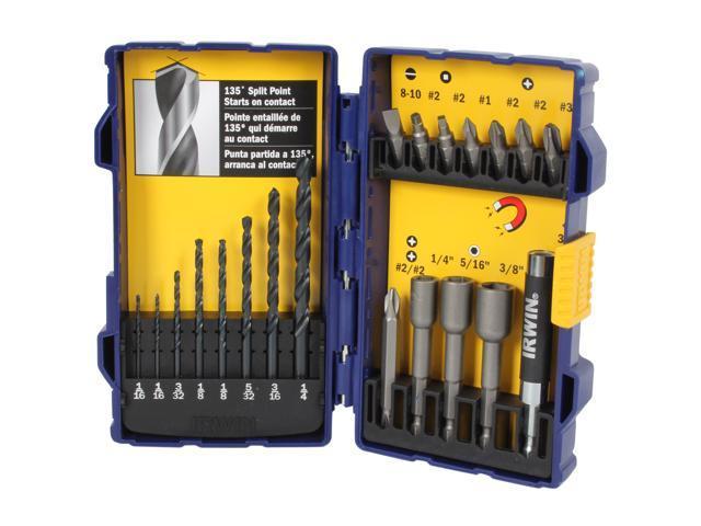 Irwin Tools                              Fastener Drive Tool and Drill Bit Set, 20-Piece